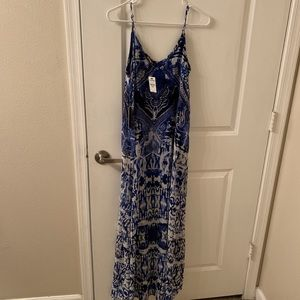 Maxi blue and white dress